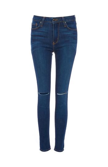 Just Black Aubrey High Waist Knee Slit Skinny Jeans Slide 1