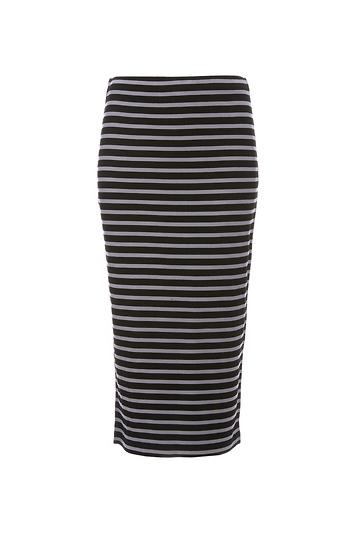 Sanctuary Stripe Knit Metropolitan Midi Skirt Slide 1