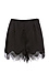 Lilian Lace Trim High Waist Satin Shorts Thumb 1