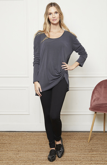 Annalise Side Knot Knit Top Slide 1