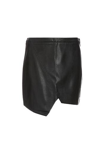 Raven Pleather Asymmetric Skirt Slide 1
