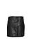 Raven Pleather Asymmetric Skirt Thumb 2