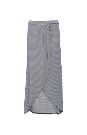 Minkpink Stripe Faux Wrap Midi Skirt Slide 1