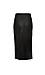La Reine Miranda Slit Front Faux Leather Midi Skirt Thumb 2
