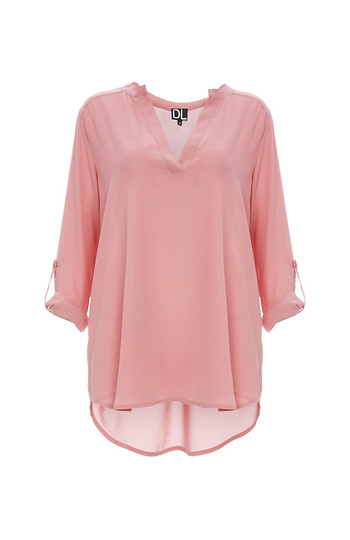 Tuck Me In or Keep Me Out Roll Sleeve Blouse Slide 1
