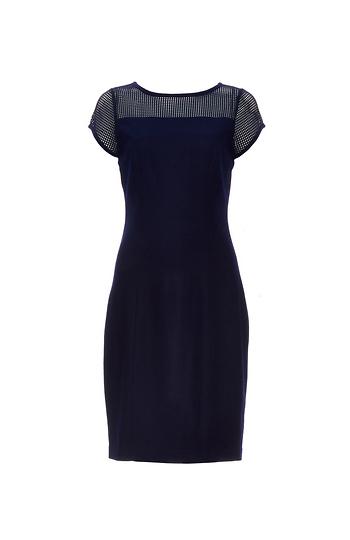 Susana Monaco Mesh Grid Shoulder Dress Slide 1