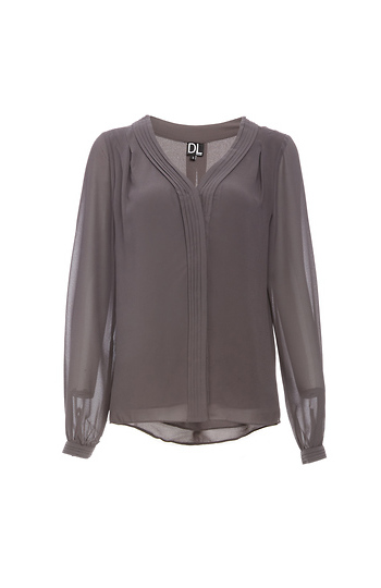 Reese Pleated Band Blouse Slide 1