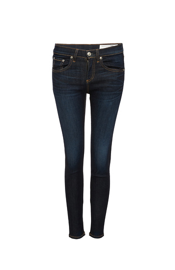 Rag & Bone Zip Ankle Washed Skinny Jeans Slide 1