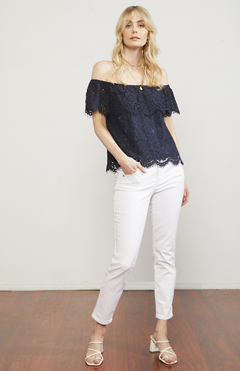 Juliet Lace Off Shoulder Top Slide 1
