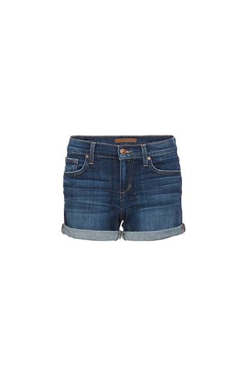 0bd986557c Joe's Jeans Missouri Rolled Hem Mid Rise Shorts in Navy | DAILYLOOK