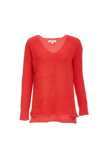 BB Dakota V-Neck Weave Knit Sweater Slide 1