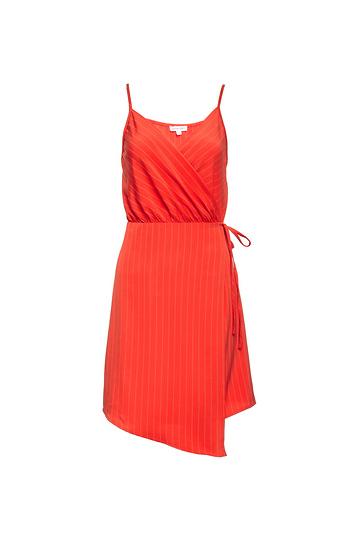 Milly Sleeveless Asymmetrical Wrap Dress Slide 1