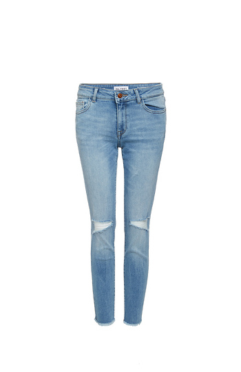 DL1961 Florence Instasculpt Distressed Cropped Jeans Slide 1