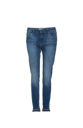 DL1961 Margaux Instasculpt Washed Step Hem Skinny Jeans Slide 1