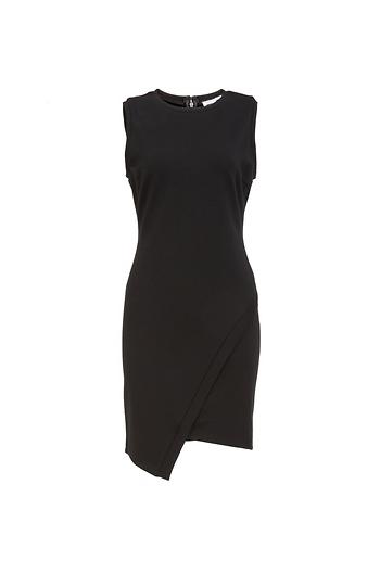 Sleeveless Elaina Asym Knit Ponte Dress In Black Xs S Dailylook