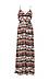 BB Dakota Woven Printed Maxi Dress w/ Tie Thumb 1