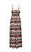 BB Dakota Woven Printed Maxi Dress w/ Tie Thumb 2