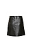 Milah Center Pleat Faux Leather Skirt Thumb 2