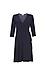 3/4 Sleeve Knit Wrap Dress Thumb 1