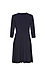 3/4 Sleeve Knit Wrap Dress Thumb 2