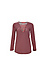 Stateside Long Sleeve Striped Lace Up Knit Top Thumb 1