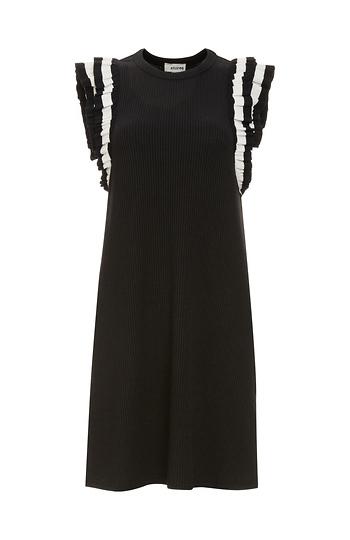 Charmaine Ruffle Sleeveless Knit Dress Slide 1