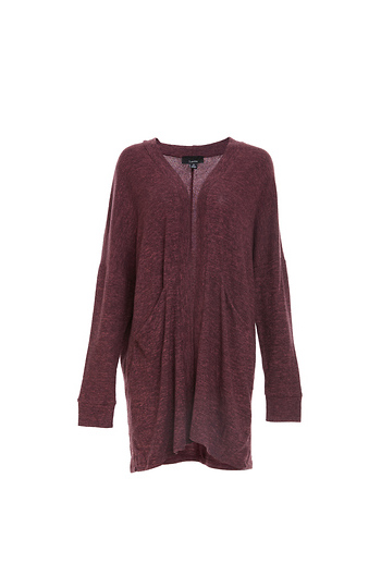 Long Sleeve Knit Cardigan w/ Pockets Slide 1