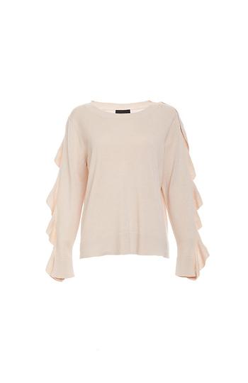 Ruffle Sleeve Sweater Slide 1