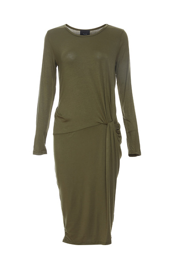 Mica Side Ruched Fitted Dress Slide 1