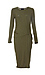Mica Side Ruched Fitted Dress Thumb 1