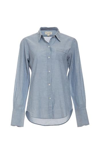 Nili Lotan Woven Chambray Collar Shirt Slide 1