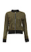 BB Dakota Contrast Edged Faux Suede Bomber Jacket Thumb 1