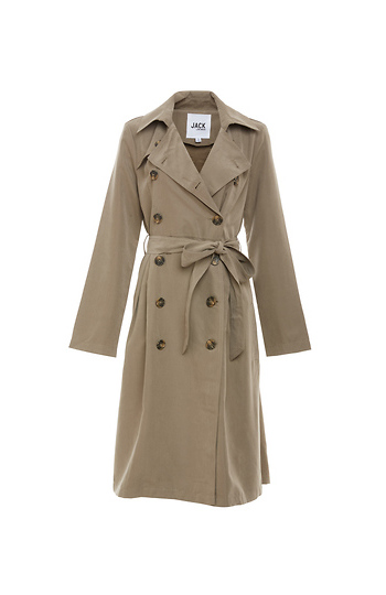 Jack by BB Dakota Double Breasted Belted Trench Coat Slide 1