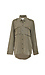 Point Collar Woven Button Up Military Shirt Thumb 1