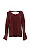 Jack by BB Dakota Heavy Knit Back Button V-neck Top Thumb 1