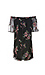 BB Dakota Floral Embroidered Mesh Off Shoulder Dress Thumb 2