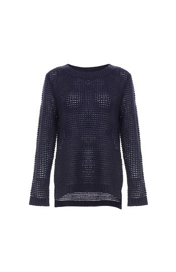 Jack by BB Dakota Waffle Stitched Pullover Sweater Slide 1