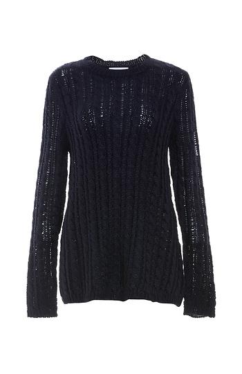 Velvet by Graham & Spencer Cable Knit Sweater Slide 1