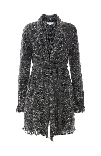 Velvet by Graham & Spencer Tweed Knit Long Cardigan Slide 1