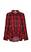 Lake Long Sleeve Plaid Shirt with Ruffles Thumb 1
