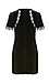 Fitted Lace Sleeve Velvet Dress Thumb 2
