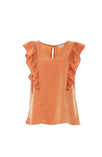 Fitted Ruffle Top Slide 1