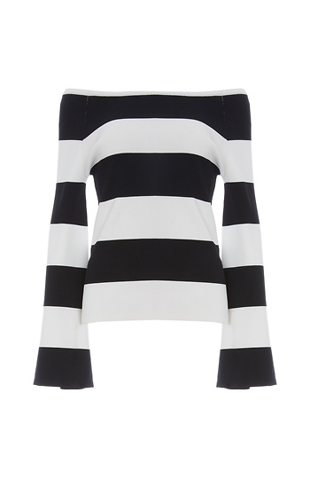 Shonda Long Sleeve Striped Top Slide 1