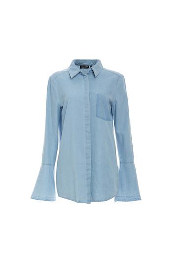 The Fifth Label Bell Long Sleeve Denim Tunic Shirt Slide 1