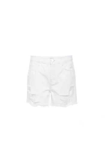 J Brand High Rise Distressed Denim Shorts Slide 1
