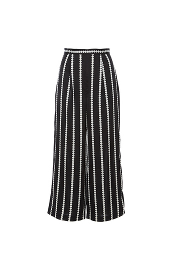 Finders Keepers Polka Dot Stripe Palazzo Crop Pant Slide 1