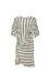 Striped Side Belt Wrap Dress Thumb 1