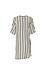 Striped Side Belt Wrap Dress Thumb 2