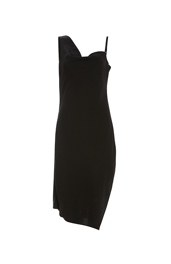 Keepsake Sleeveless Asymmetrical Drape Dress Slide 1