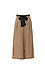 Contrast Self Tie Belted Wide Leg Pants Thumb 1